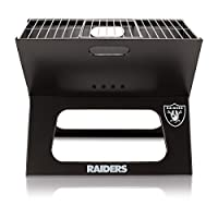 NFL Oakland Raiders Portable Collapsible Charcoal X-Grill