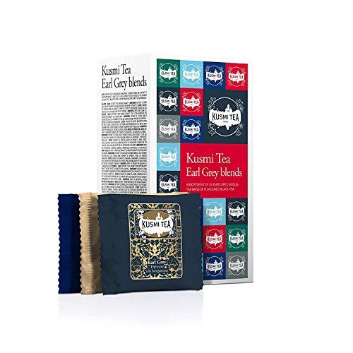 (KUSMI TEA) クスミティー アールグレイ ブレンド ティーバッグ 2.2g×24袋入り(6種類、各4袋入り) [正規輸...