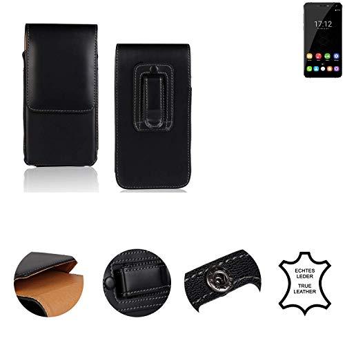 K-S-Trade® Holster Gürtel Tasche Für Oukitel U11 Plus Handy Hülle Leder Schwarz, 1x