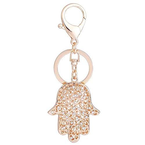 Sleutelhangers Voor Meisjessleutelhanger Heren Eenvoudig Vinger Autosleutel Ring Dames Tassen Hanger Accessoires Sleutelhangers Goud