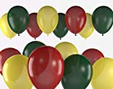 jamaica rasta reggae party balloon latex 24 pack bundle color Red Green Yellow bob marley decor rasta reggae jamaican party theme decorations party event Supplies fiesta