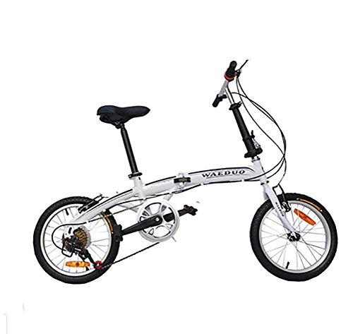 MASLEID 16' Pollici Bicicletta Pieghevole Bianco