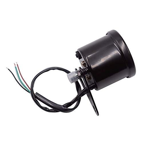 Juan Ni Motorrad Instrument Runde Flüssigkristallanzeige Instrument schwarz Shell modifiziert Instrument Drehzahlmesser 12V (Color : Black)