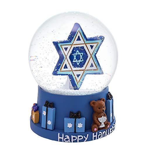 Kurt S. Adler 100MM Musical Hanukkah Star of David Waterglobe Water Globe, Multi