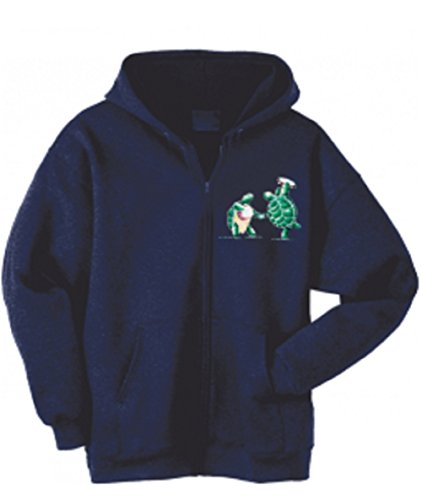Blue Mountain Dyes LLC Grateful Dead Hooded Sweatshirt Terrapins Zip up Hoodie (XXX-Large) Navy Blue