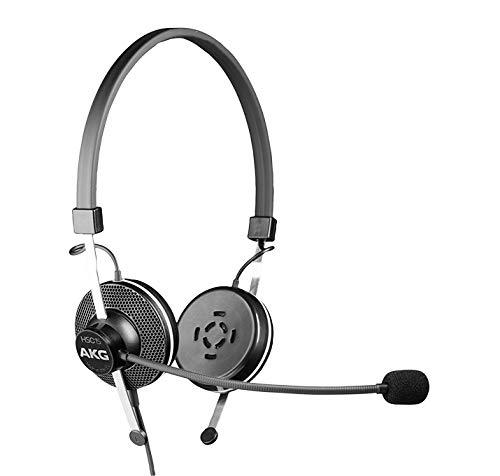AKG HSC15 Professionelle Kopfhörer mit Mikrofon für Konferenzen, Schwarz