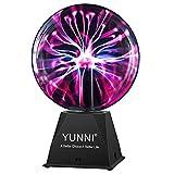 YUNNI Plasma Ball 8 Inch, Plasma Globe Touch and Sound Sensitive, Plug...