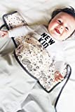 Wallaboo Babydecke aus 100% Baumwolle, Flauschig Weich, Kinderbettdecke, Ideal als Erstlingsdecke, Puckdecke oder Kuscheldecke, 100 x 90 cm, Mehrfarbig