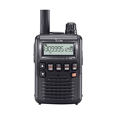 Handscanner ICOM IC-R6 / Frequenzbereich 0.100 - 1309.995 MHz / AM, FM, WFM / 1300 Speicherzellen || Funkscanner / Handscanner / Empfänger