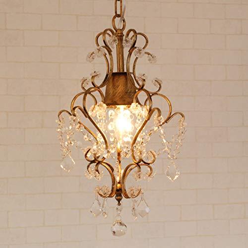 シャンデリア プチシャンデリア Jasmine ブロンズ 1灯 ミニシャンデリア アンティーク調 アンティーク風 LED対応