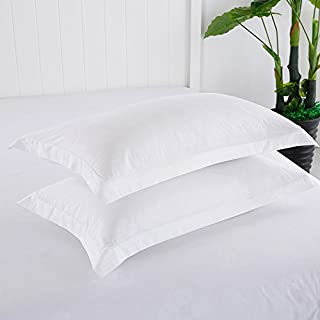 Juwenin Home 100% Brushed Microfiber Standard Pillow Shams Set of 2, Soft and Cozy, Wrinkle, Fade, Stain Resistant, Standa...