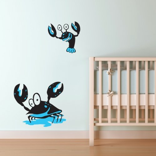 UNDERWATER CRAB AND LOBSTER WALL STICKER... KIDS NURSERYStickers muraux / stickers muraux de mur / transferts / stickers muraux