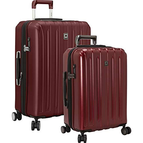 DELSEY Paris Titanium Hardside Expandable Luggage with Spinner Wheels, Black Cherry Red, 2-Piece Set (21/25)