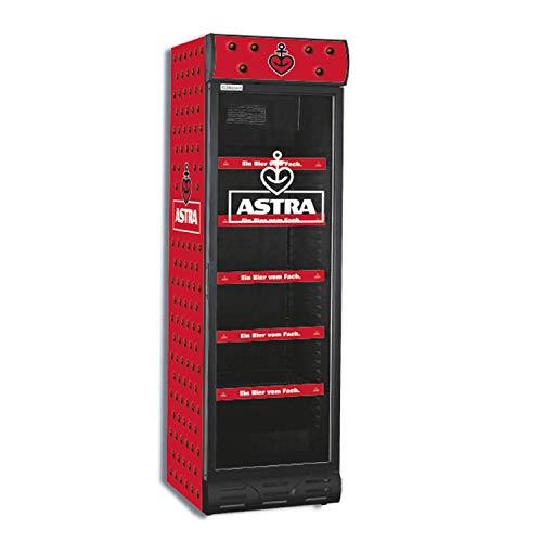 Astra Gastronomie Gastro Flaschen Kühlschrank Getränkekühlschrank mit Fenster, abschließbar, mit LED Beleuchtung
