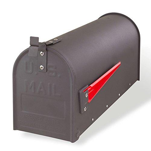 DEMA American Mailbox aus Stahl, Anthrazit