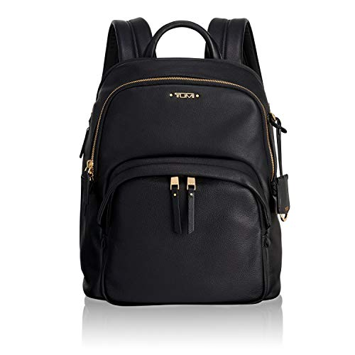 Tumi Voyageur Dori Leather Backpack Mochila Tipo Casual, 33 cm, Negro (Black)