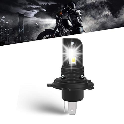 OPP ULITE Ampoule H4 LED Moto , Phare LED Moto/ Feux de Croisement / LED Antibrouillard, 6000LM 80W 6000K Blanc Brillant, Remplacement Halogène, Installation Rapide, 1 pièce