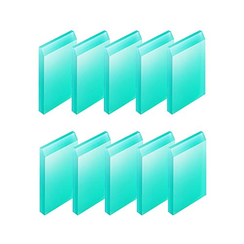 Umytransfer Pack of 10 Mini Squeegees - Screen Printing Tools for Applying Transfer Paste or Ink - Self-Adhesive Screen Stencil Printing Chalk Based Paint Squeegees Turquoise