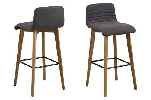 AC Design Furniture Barhocker William, B: 44 x T:47 x H: 101 cm, Stoff, Grau