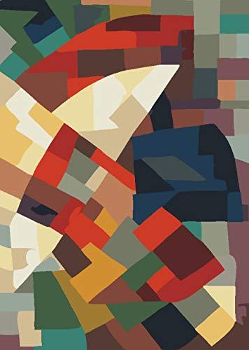 NA/ Pintar por números Cubo de Rubik DIY Pintura al óleo Pintura Kits de números para niños Adultos Principiantes Estudiantes Pared Lienzo Arte decoración del hogar 40x50cm sin Marco
