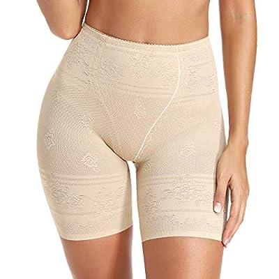 Womens Shapewear Shorts Tummy Control High Waist Panty Thigh Slimmer for Under Dresses Beige