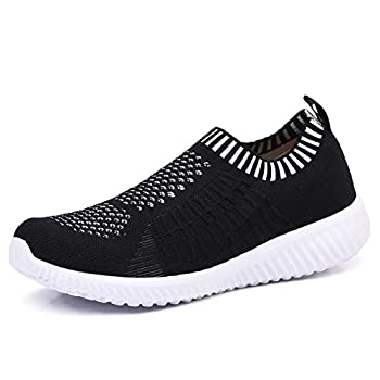 TIOSEBON Women's Athletic Walking Shoes Casual Mesh-Comfortable Work Sneakers 5 US Black