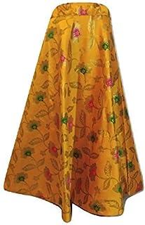 FEMEZONE Brocadesilk Ethnic Traditional Lehenga/Skirt for Party/Festival function,Yellow