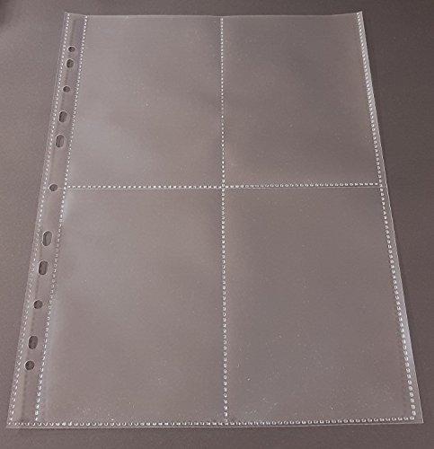 100x A4 Sammelhüllen, Prospekthüllen, Kartenhüllen, 120my, geteilt auf 4 Fächer (A6) recycelbar !