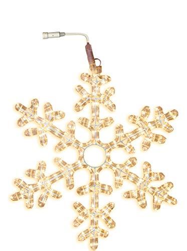 Star 800-41 Silhouette du Tube Lumineux Snowflake, Flocon de Neige prolongable, 216 LED Blancs Chauds ca. 50 cm Ø, extérieur Box