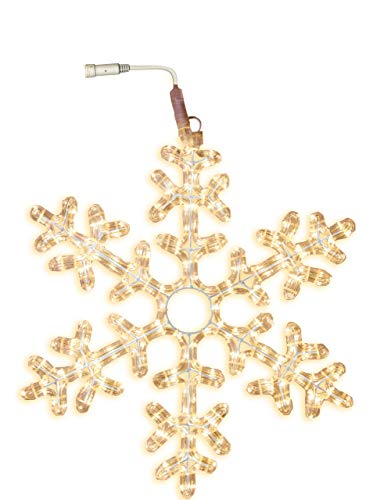 Best Season LED-Ropelight-Silhouette Schneeflocke koppelbar Durchmesser circa 50 cm, 216 warm weiß LED 800-41