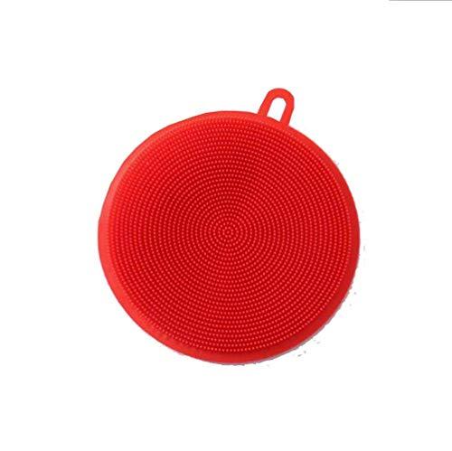 XHCP Geschirr , Bürste , waschen 1PC Geschirrspülreinigungsreiniger für die Küche Isolierte Dekontamination Multifunktionale Geschirrspülbürste Silikon doppelseitig 12 * 10,6 * 1CM