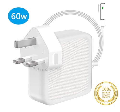 TOPSELL Compatible With MacBook Pro Charger, Replacement 60W MagSafe L-Tip Connector Power Adapter, Charger for MacBook Air 11 inch & 13 inch (2009 Late 2010 2011 2012 Summer)