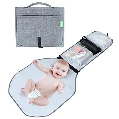 Ulife Mall Portable Nappy Changing Mat, Waterproof Travel Diaper Changing...