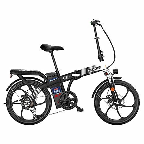 ZOSUO Herren Faltbares Fahrrad E-Bike Elektrofahrrad Alu 26 Zoll Mit Shimano 7-Gang-Getriebe Pedelec Trekkingrad Mit Motor 300W 48V20ah Akku Lithium-Schneemobil Strandfahrrad
