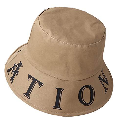 CROW Sombrero de Sombra Grande de Las señoras de Verano, Gorra Plegable Transpirable, Sombrero de Sol, Pescador de protección Solar, Sombrero de Viaje al Aire Libre, somb C4