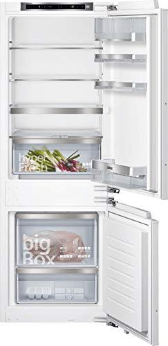Siemens KI77SADE0 iQ500 Einbau-Kühlgefrierkombination / E / 207 kWh/Jahr / 231 l / lowFrost / hyperFresh Premium 0° / LED Beleuchtung