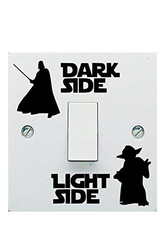 Star Wars lado oscuro luz interruptor vinilo Adhesivo Niño Habitación Interruptor de luz de pared