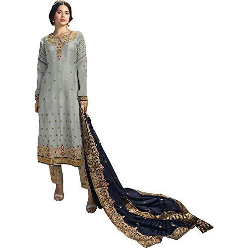 Sewn Georgette Indian Pakistani Stylish Salwar Kameez Trouser Pant Suits Embroidery Work Dress (Choice 1, 22 US 6XL (Chest-54 Waist-50))
