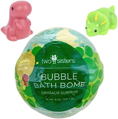 Dinosaur Bubble Bath Bomb for Kids with Surprise Squishy Toy Inside by Two Sisters Spa Large product image
