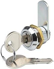 Metafranc cilinderhendelslot boormaat 19 mm gelijksluitende sluitweg 180° -metaal verchroomd incl. 2 sleutels/brievenbusslot/kastslot/deurslot/meubelslot/340396