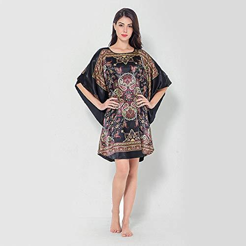 Bata de rayón de Seda de Las Mujeres Chinas Batas de Dama de Honor de la Boda Pijamas Kimono Falda de baño Vestido de Pijama