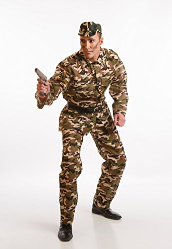 Disfraz de Militar de camuflaje para hombre