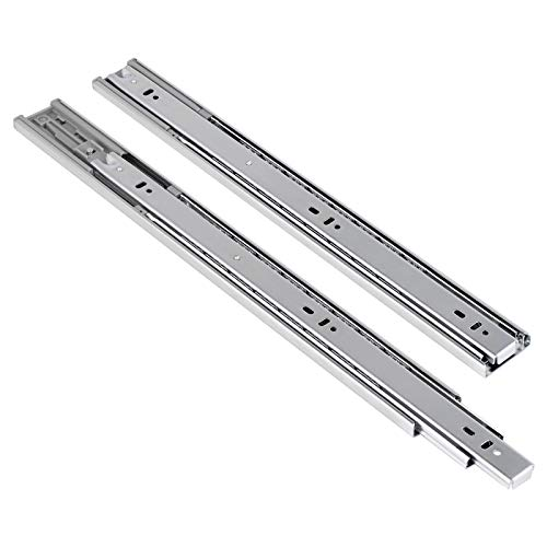 20 inch 6 Pairs Soft Close Side Mount Ball Bearing Drawer Slides - Self Closing 20' Nickel Drawer Rails Home Hardware Accessories, Full Extension with Mounting Hardware