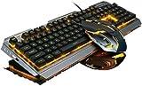 Clavier de jeu Clavier portable élégant Gaming Keyboard Souris Set, USB clavier de jeu portable clavier filaire et 7 couleurs de...