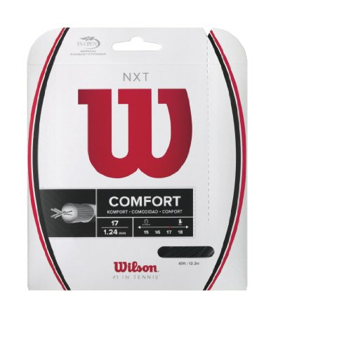 Wilson NXT Multifilament 17 Gauge Tennis Racket String in Black Color (Best String for Power and...