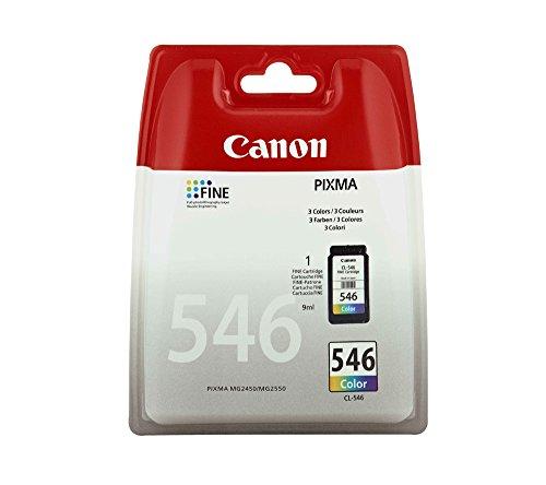 Canon Tintenpatrone 8289B004–CL-546–Farbe (Cyanblau, Magenta, Gelb)–Original–Blister mit Diebstahlsicherung–Tintenpatrone–für PIXMA iP2850, MG2450, MG2550, MG2555, MG2950, MG2950S, MX495