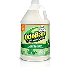 1 gallon (3.79L) of original eucalyptus scent concentrate; makes up to 32 gallons OdoBan, odor eliminator and disinfectant, eliminates unpleasant odors, cleans, disinfects, sanitizes and deodorizes household surfaces while leaving a fresh scent This ...