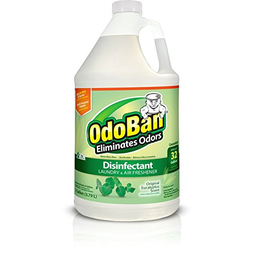 OdoBan Multipurpose Cleaner Concentrate, 1 Gal, Original Eucalyptus Scent - Odor Eliminator,...