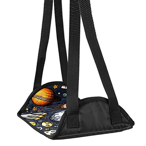 Flugzeug-Fuß-Hängematte Schreibtisch Fuß-Hängematte Reise Fußstütze Home Zubehör Beinstütze Comic Rocket Planet Astronaut Reise Fußstütze