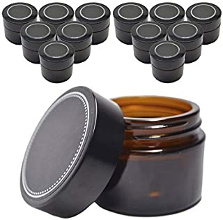 12 Pack Firefly Craft Amber Apothecary and Salve Cosmetic Jars with Lids, 4 oz Each